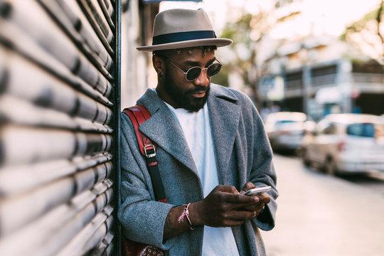 Portrait of stylish african man