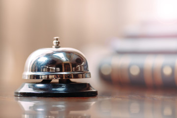 Shot of a Desk Bell in hotel.