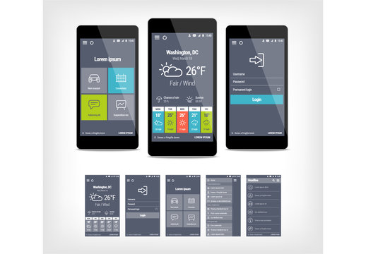 Mobile User Interface Layout