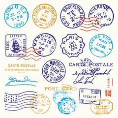 Vintage Postmark Stamp Vector Set