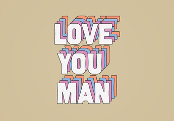 Retro Sixties Layered Text Effect