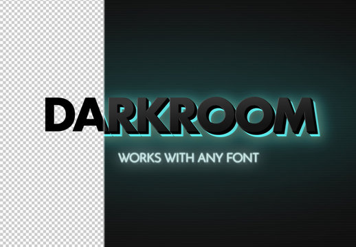 3D Neon Signing Backlight Text Effect