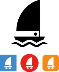 Sailboat Sea Vessel Vector Icon