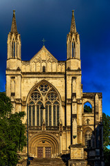 New Zealand, South Island. Dunedin. Facade of St. Paul's Cathedral