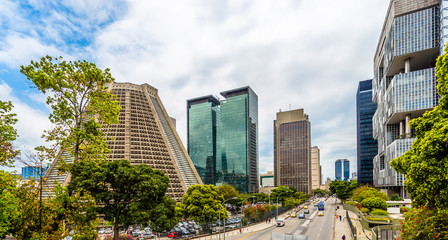 Modern skyscrapers buildings downtown panorama, Rio De Janeiro, Brazil
