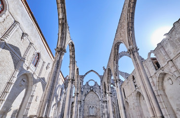 Portugal, Lisbon, Chiado, Carmo?Convent ruins