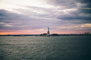 Statue of Liberty seen from Staten Island Ferry, New York City , USA Fototapete