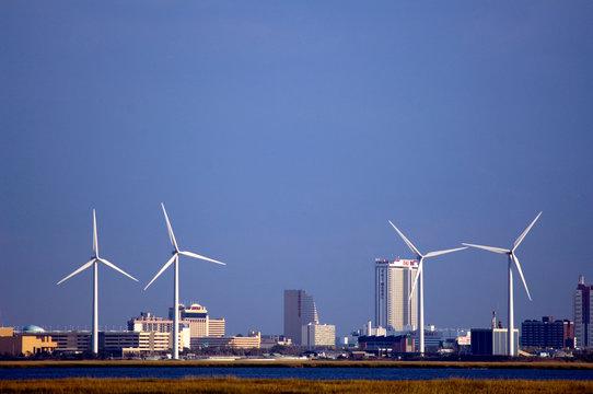 Wind turbines near Atlantic City, NJ