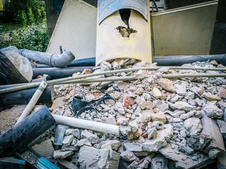 construction rubble