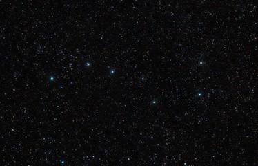 Big Dipper in the constellation of Ursa Major in the sky full of stars