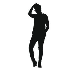 Man Posing Silhouette