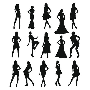Woman Posing Silhouette