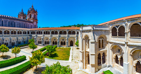 Cloister of Silence at Alcobaca monastery in Portugal Fotomurales
