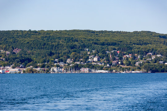 Bayfield Wisconsin from Lake Superior