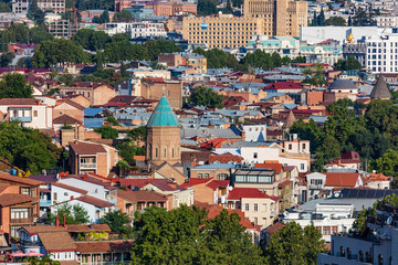 Fototapete - cityscape skyline of Tbilisi Georgia capital city eastern Europe