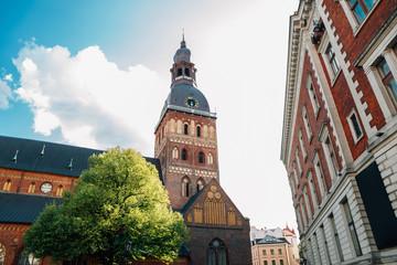 Riga Cathedral on Dome Square in Riga, Latvia