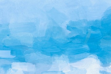 Abstract watercolor hand painted blue background
