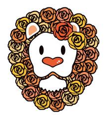お洒落なライオンさん デザイン 切り絵アート ベクター
