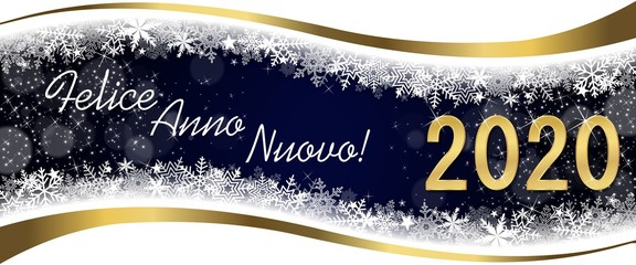 Italian Greeting Card 2020 Good and Happy New Year