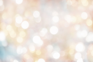 blurry background of christmas lights - light pastel colors