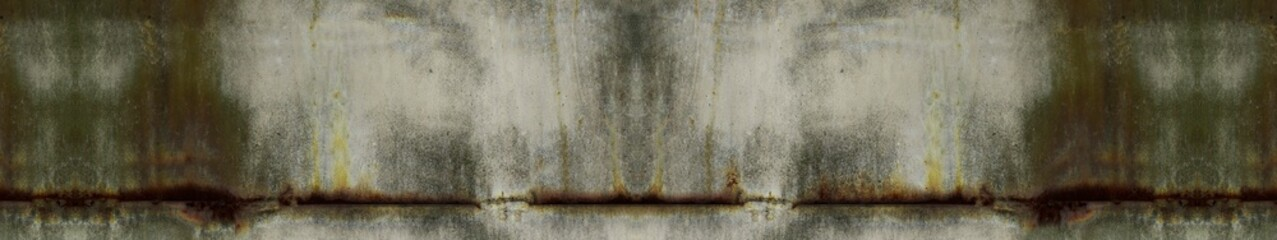 Abstract grunge background with border. Mold, moss, fungus on a concrete wall. Gray-green wall with mold texture.