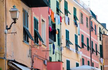 Colorful traditional Italian Ligurian houses