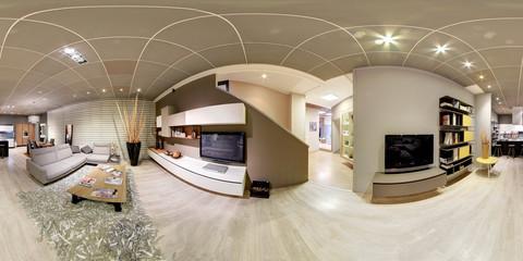 360 degree panorama of an upmarket living room