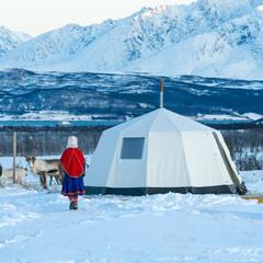 Modern Sami home. look alike Sami Tent, Tromso,Tromso Lapland