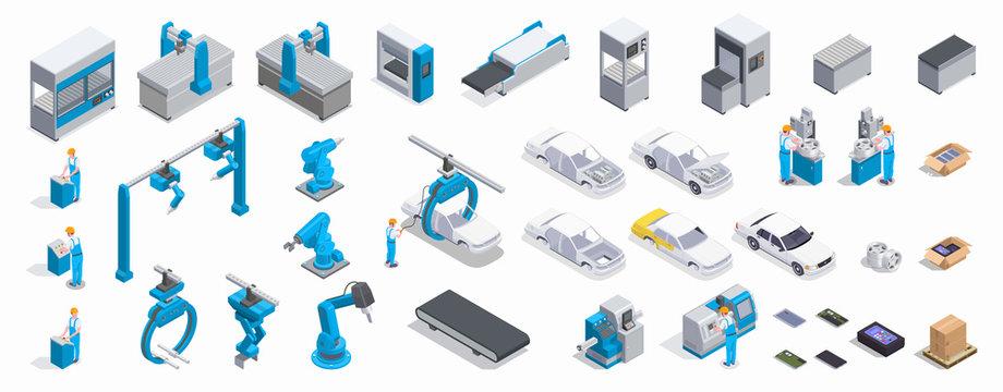 Industrial Equipment Isometric Set