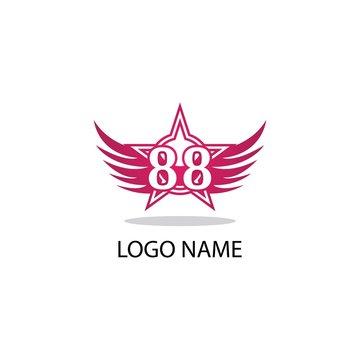 88 number logo symbol illustration design