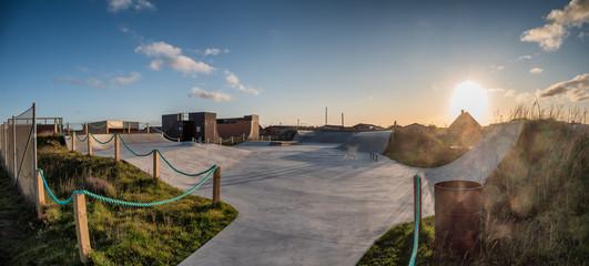 Skateboard area park in Thyboroen, Denmark