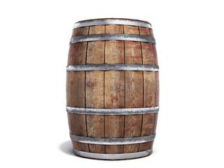 Wooden barrel isolated on white background 3d illustration Fototapete