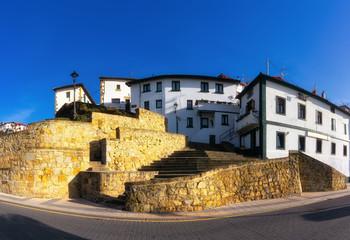 Beautiful panorama of Puerto Viejo of Algorta in Getxo