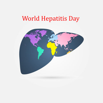 World hepatitis day. Background template use for card vector design
