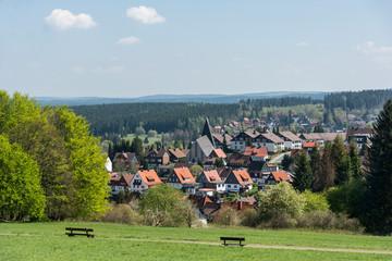 Blick auf Braunlage im Harz.