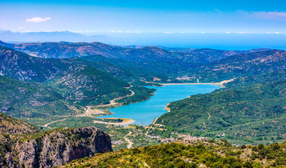 Aposelemi reservoir, Crete, Greece