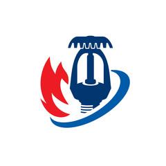 Fire Sprinkle Logo, Fire Protection Logo