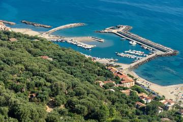 Coast at Pisciotta, Salerno, Italy