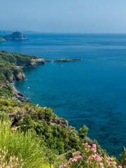 The coast of Maratea, Southern Italy, at summer