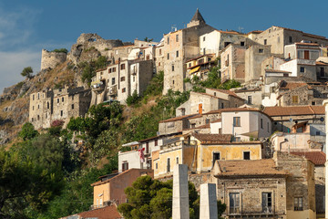 Fototapete - Historic town of Scalea, Calabria, Italy