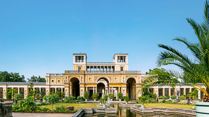 Potsdam, Germany - 24 August 2018: The Orangery Palace in the Sanssouci Park