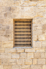 Latticed window in the Palace of the Shirvanshahs in Icheri Sheher
