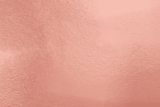 Rose gold cement texture background. Retro shiny wall surface, polished metal, steel texture, highly detailed copy space for any design...