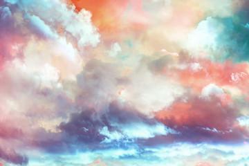 beautiful fantasy  winter cloudscape background Fototapete