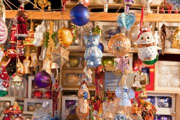 Beautiful Christmas decoration on the Christmas market