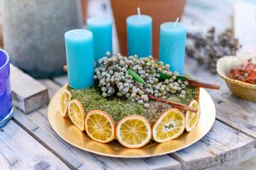 weihnachtliche Tischdekoration, Landhausstil, Vintage