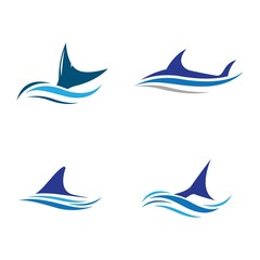 Shark symbol vector icon illustration
