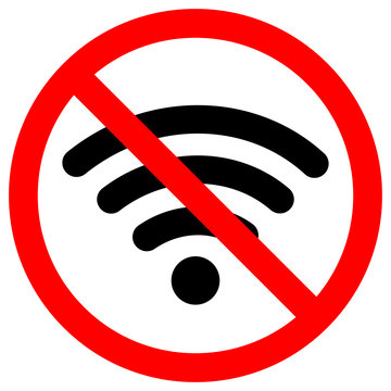 No Wifi Area, Vector Illustration, Isolate On White Background Icon. EPS10