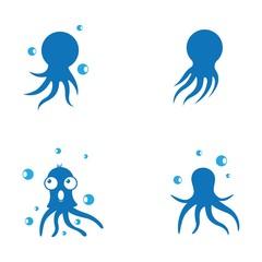 Octopus symbol vector icon illustration