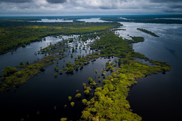 Poster Brésil The mouth of the Jaú River is within the Jaú National Park and houses great biodiversity of the Amazon biome. amazonas, Brazil